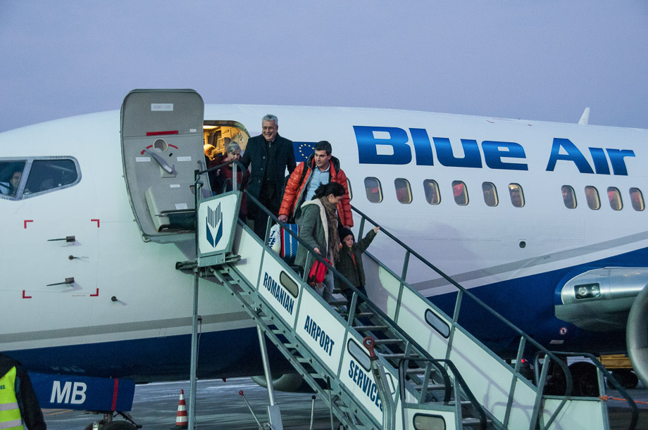 First flight from Bucharest with Blue Air